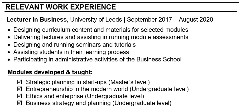 How to Prepare a Winning CV for Mid-level Academic Roles Careers in HE