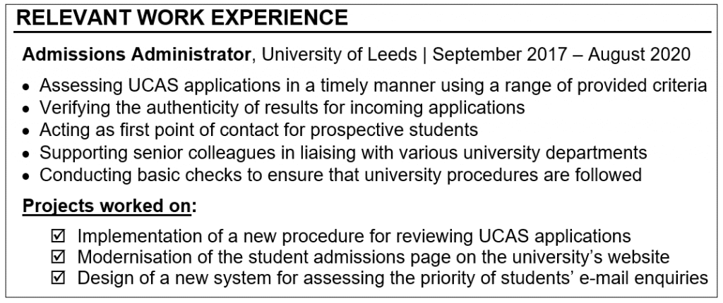How to Prepare a Winning CV for Mid-level Professional Roles in Academia Careers in HE