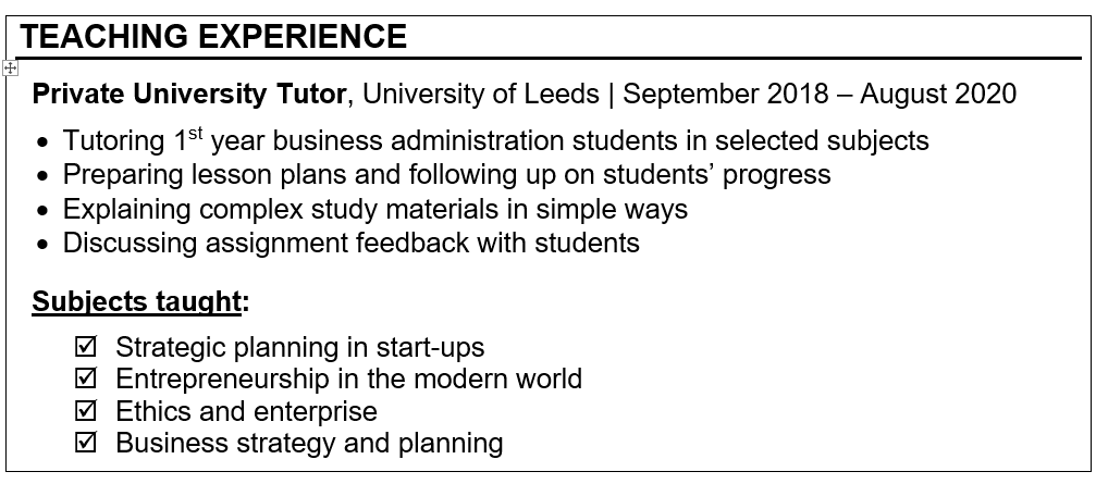 How to Prepare a Winning CV for Entry-level Academic Roles Careers in HE